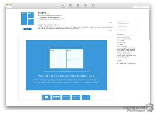 macOS 스플릿 뷰를 대신할 앱, 마그넷(magnet)