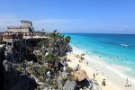 멕시코 - 뚤룸(Tulum) 마야 유적 유일한 해양 문화