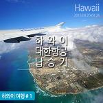 하와이 대한항공 탑승기 !! (기내식)