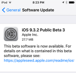 iOS 9.3.2 퍼블릭 베타3 배포 및 업데이트 방법