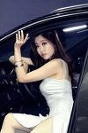 [서울 모터쇼-푸조] 레이싱모델 하루, 고혹적인 드레스 자태, 몽환적 눈빛