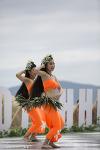 해운대 해수욕장의 훌라댄스공연