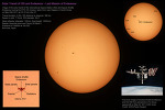 Solar Transit of ISS and Endeavour