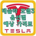 테슬라 모델3 예상가격 알아보기!