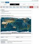 톈궁 1호(Tiangong-1)의 최종예측추락 시각 및 지점 (변동 가능)