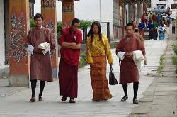 히말라야 부탄왕국의 전통 의상