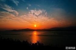 완도 일몰공원 (하늘, 바다, 산 그리고 진한색)