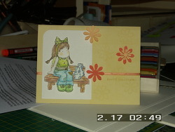 친구에게 보낼 카드를 만들었어요~