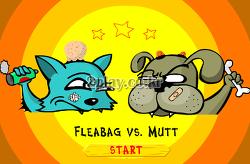 고양이 대 개 게임하기 - fleabag vs mutt, 개트리스, 2인용 플래시게임