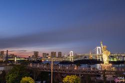 [일본/도쿄/오다이바 여행,야경] 오다이바, 레인보우 브릿지 야경