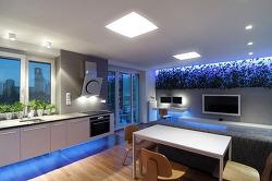 LED 조명을 사용한 아파트 인테리어