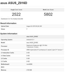 스냅드래곤821 추정 긱벤치3 결과 분석. (Asus Zenfone3 Deluxe ?)
