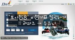 '보아항공' 비행기표 발권하기 :: 라파즈 → 우유니