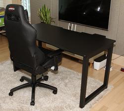 제닉스 아레나 데스크 1500 책상 설치 게임용 컴퓨터 책상