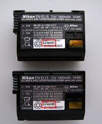 니콘 D500 배터리 EN-EL15 이슈