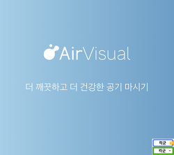 미세먼지 지수 어플 Air Visual(에어 비주얼), 믿을 수 있는 대기오염 공기질 측정 앱