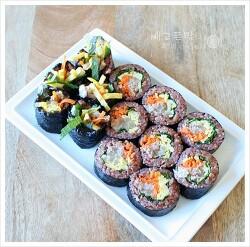 톡쏘는 매운맛~ 와사비마요 참치김밥