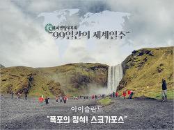 아이슬란드 잘생긴 폭포를 만나다! 폭포의 정석, 스코가포스(Skógafoss)