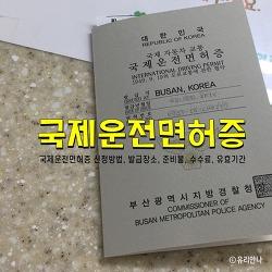 국제운전면허증 발급, 신청방법, 준비물, 수수료 (부산 남부 운전면허시험장)
