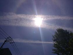 하늘에 멋진 태양