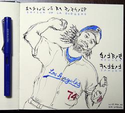 [자작그림] 켄리 잰슨 (Kenley Jansen) in LA Dodgers