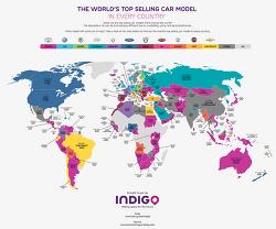 국가별 가장 많이 팔린 자동차 브랜드와 차종은 무엇일까?