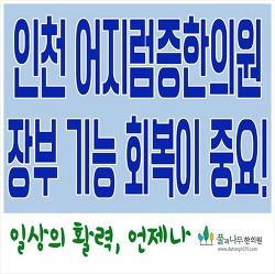 인천 어지럼증한의원. 장부 기능 회복이 중요!