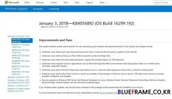 MS, 1월 4일자로 인텔 CPU 멜트다운 보안 취약점 대응 윈도우 긴급 보안패치 업데이트