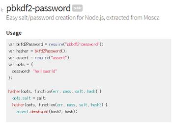 Node.js 생활코딩 정리 – Password Key Stretching 기법(PBKDF2 도입)