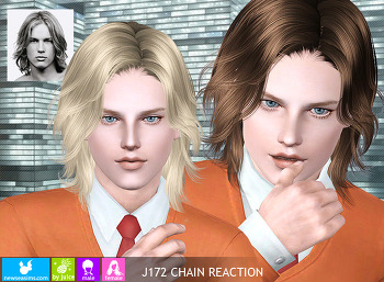 NewSea-SIMS3-hair-J172-Chain Reaction