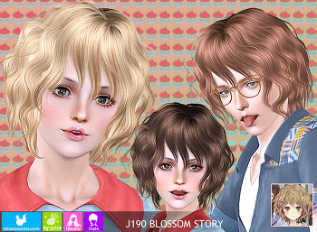 NewSea-SIMS3-hair-J190-BlossomStory