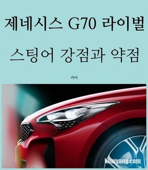 제네시스 G70 라이벌, 기아 스팅어 강점과 약점은?