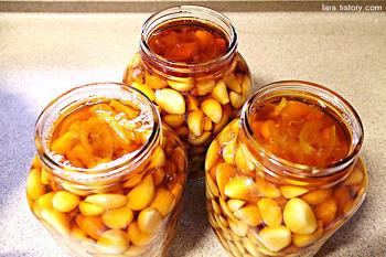 끓이지않고 깐마늘장아찌담그는법 / 일년보관가능한 깐마늘장아찌 만들기(최고의 요리비결 레시피)