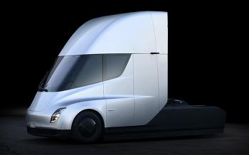 트럭의 미래를 보여주는 테슬라 세미트럭 공개