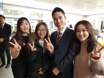 영미 컬링팀과 MBC 분징실에서 만났어요