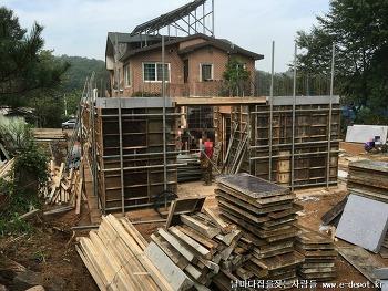 전원주택 건축의 시작인 골조작업과정