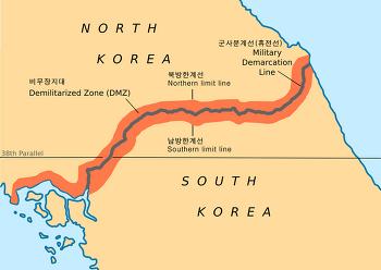 비무장지대(DMZ)의 남방한계선(SLL)과 북방한계선(NLL)