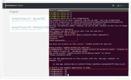 [OpenShift v3 #3] Origin 3-node, CentOS 7 기반 3노드 설치, 사용 방법(3/3)