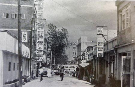 1960년대 말 안양역앞 골목길(현 일번가)