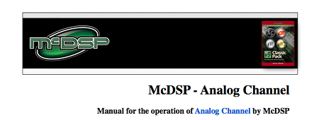 McDSP - Analog Channel