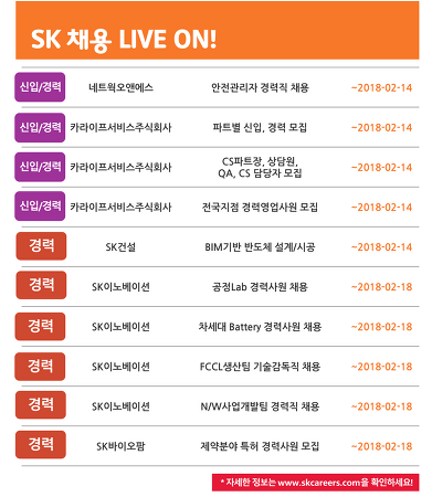 SK그룹 2월 3주차 채용소식