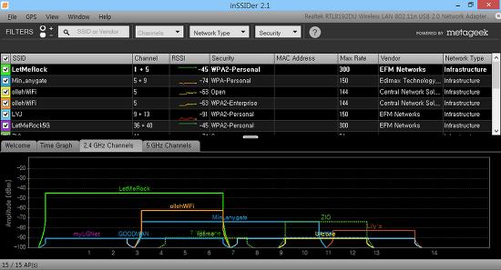 와이파이를 좀 더 빠르게 - 와이파이 분석툴 inSSIDer
