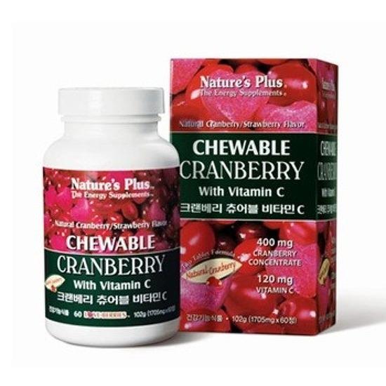 [비타빈C과일]여성에게 좋은 크랜베리, 크랜베리 츄어블 비타민 C로 섭취하세요.