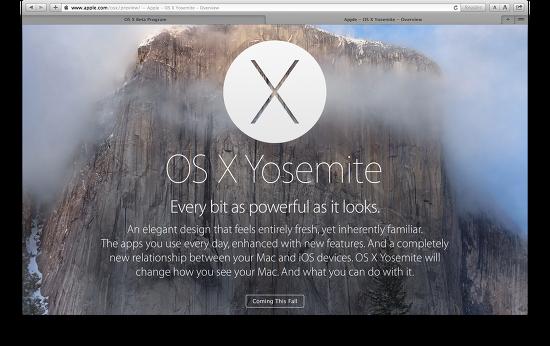 Mac OS X 10.10은 요세미티