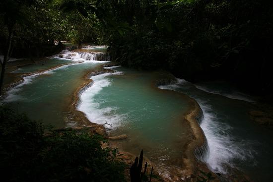 [루앙프라방-광시폭포] 에메랄드 폭포수에 다이빙하는 일상