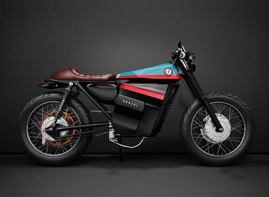 *혼다 전기 바이크 honda electric café racer concept fuses classic styling with battery power