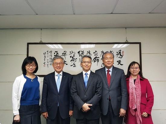 이명철 원장·윤순창 대외협력담당부원장, 대만한림원과의 협력회의 진행
