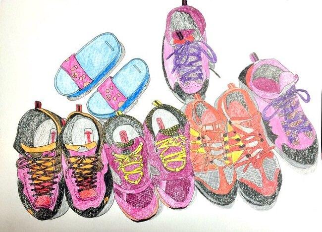 2박3일 지리산을 다녀온 아이들의 신발^^