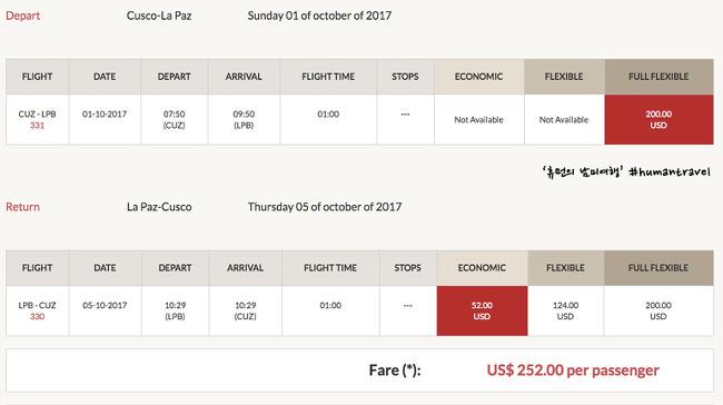 [휴먼의 남미여행] 항공권을 예약하다(1) - 페루비안 항공 예약 -