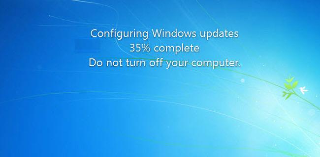윈도우즈 업데이트가 35% 멈춰있는 현상 조치하기 방법